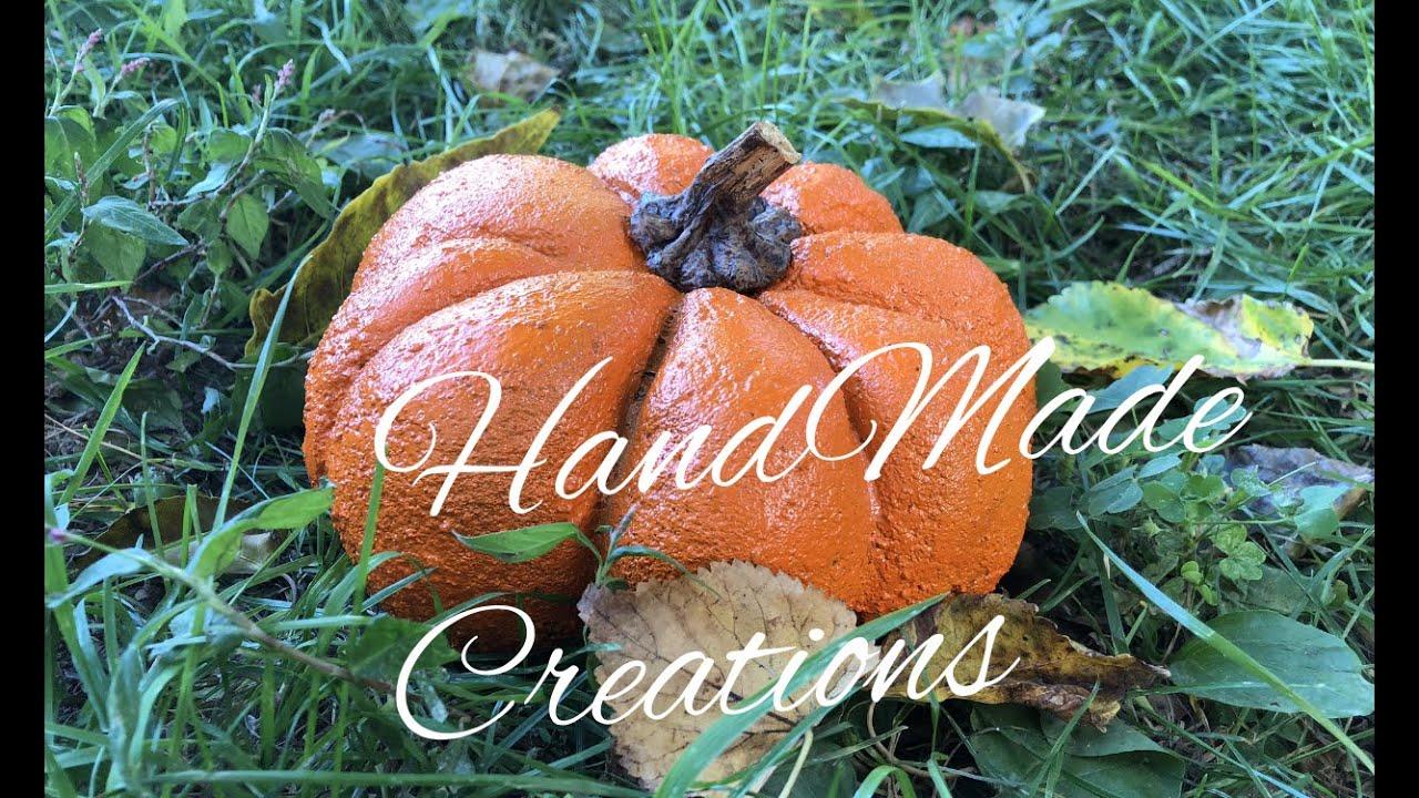 Тыква сделанная своими руками / Pumpkin/Декор для сада/Хеллоуин/Decor for Hellowen
