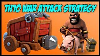 TH10 GoBoHo w/ Wall Wrecker (Golem + Bowler + Hog Rider) War Attack Strategy | Clash of Clans