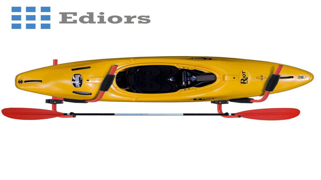 Kayak Wall Hanger >> Ediors Kayak Wall Hanger Heavy Duty Steel 100lb Kayak Canoe Arms Storage Wa