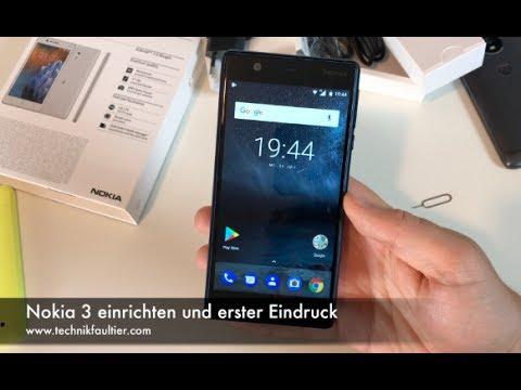 Nokia 3 einrichten und erster Eindruck