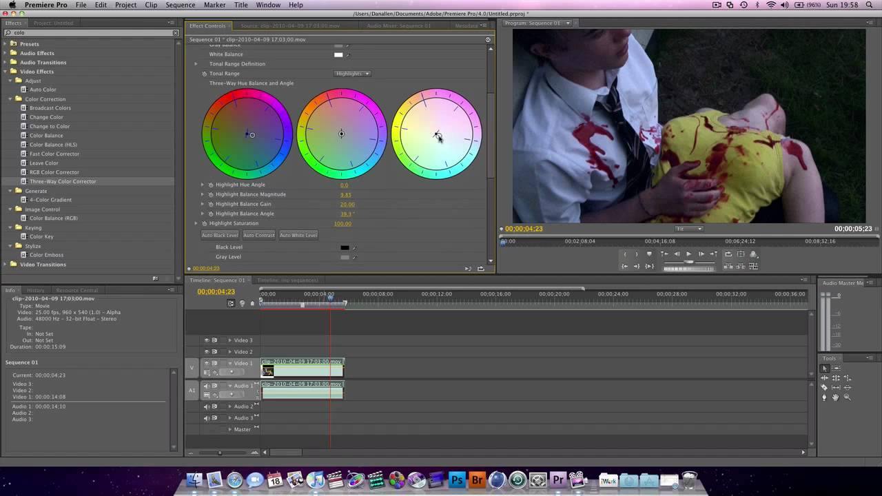 Premiere Pro Tutorial : Color Correcting & Color Grading - YouTube