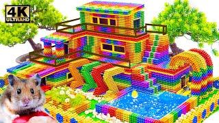 DIY - Build Mega Villa House Has Pool Fish Tank Slime For Hamster With Magnetic Balls (Satisfying)