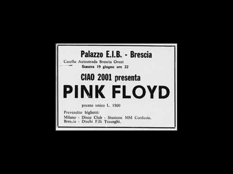Pink Floyd Palazzo Delle Manifestazioni Artistiche, Brescia, Italy 19 June 1971