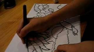 Como dibujar a Helios (Gormiti) videotutorial 7.