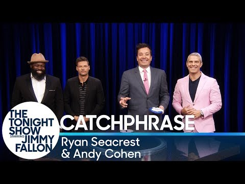 Catchphrase with Ryan Seacrest and Andy Cohen