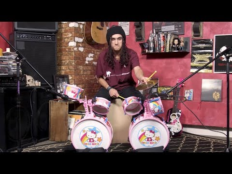 Max Portnoy: 'Name That Tune' on Hello Kitty Drum Kit (Complete Destruction)