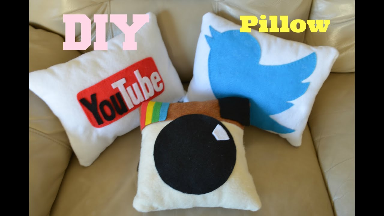 DIY: Social Media Pillows - YouTube