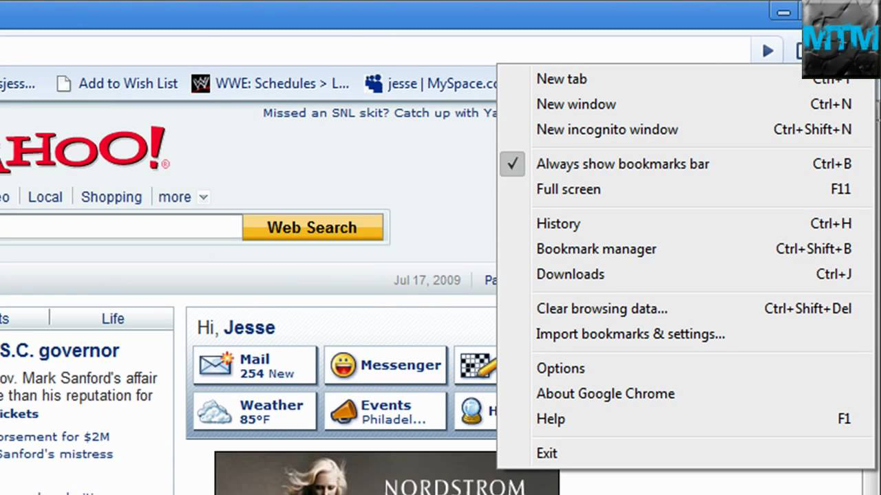 how to change your homepage on chrome 2012
