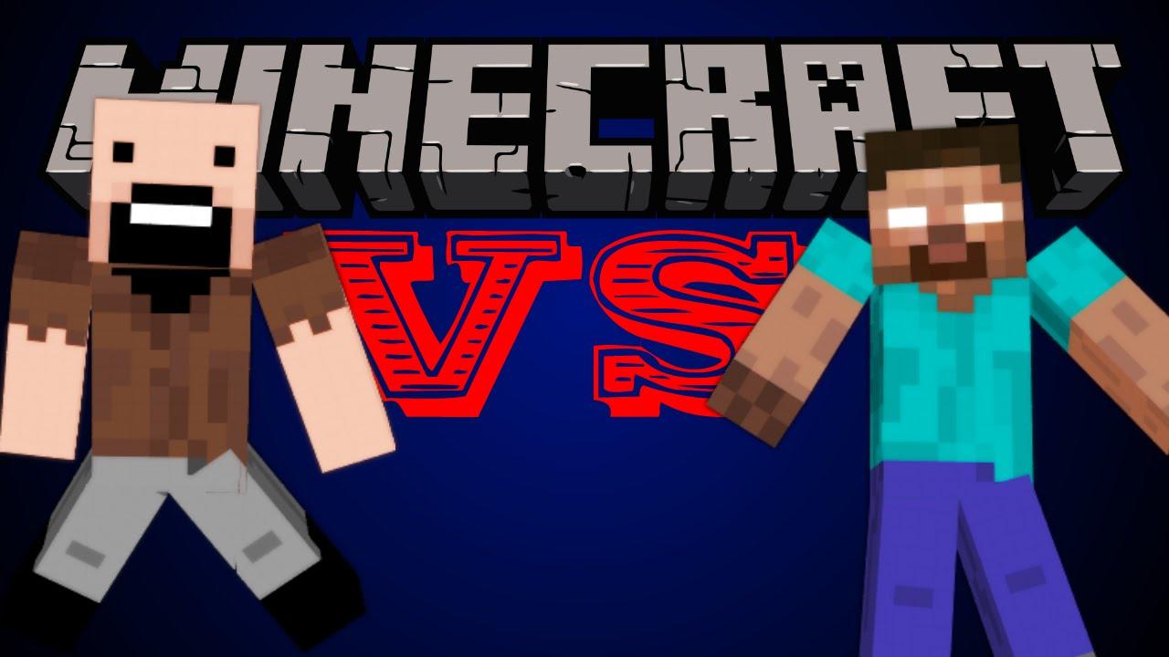 Notch VS Herobrine - Minecraft - YouTube