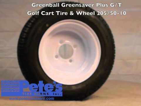 Greenball Greensaver Plus G/T Golf Cart Tire and Wheel 205/50-10 on carlisle golf cart tires, greenball golf cart tires, deestone golf cart tires, golf cart mud tires, costco golf cart tires, fairway pro golf cart tires,