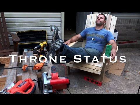Adirondack Chair with a CUP HOLDER! | How-to
