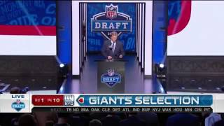 Giants pick Eli Apple No. 10  (April 28 2016)