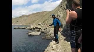 Дайвинг в Крыму. Орджоникидзе 2016. Прыжки со скалы. Этажи. Часть 2