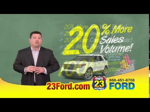 Rt 23 Ford In Butler Nj Offers 20 More For Your Trade Youtube