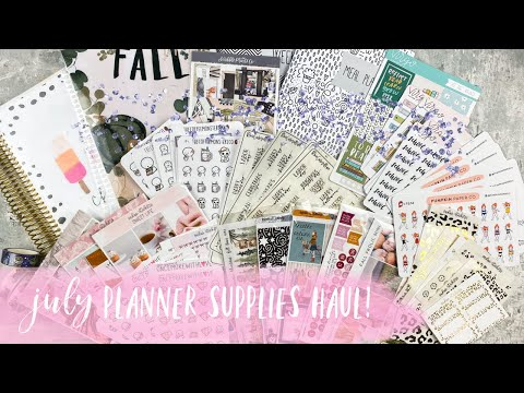 july-planner-supplies-haul-|-ft.-sadie's-stickers,-virgo-&-paper,-and-more!-|-tattooed-teacher-plans