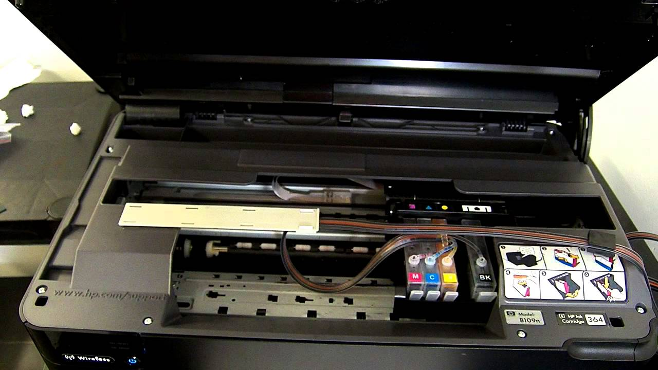 Hp Photosmart B109 Series Ciss Continuous Ink System Youtube
