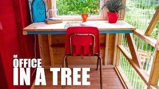 Office In A Tree- A Tree House Outside Boston, Ma (tiny Cabin)