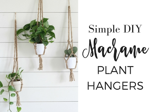 Simple Diy Macrame Plant Hangers Youtube