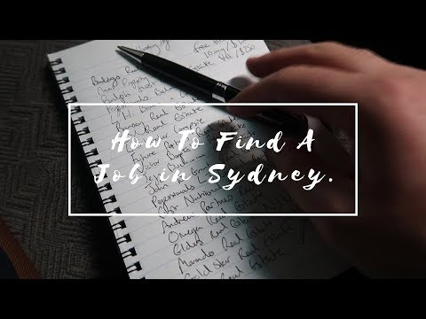 How To Find A Job In Sydney