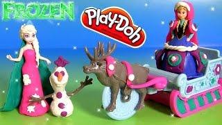 Play Doh Brillante FROZEN Aventuras de Trenó com Princesa Anna e Olaf - Play Doh Sled Adventure Elsa