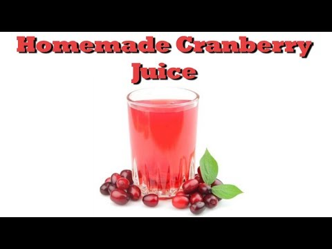How To Make Homemade Cranberry Juice | Drinks Made Easy