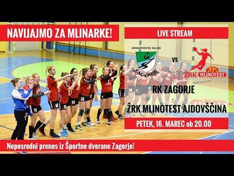 Live Stream - RK Zagorje : ŽRK Mlinotest Ajdovščina
