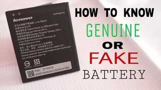how to identify fake battery lenovo for all lenovo batteries fake Lenovo a6000 battery price lenovo