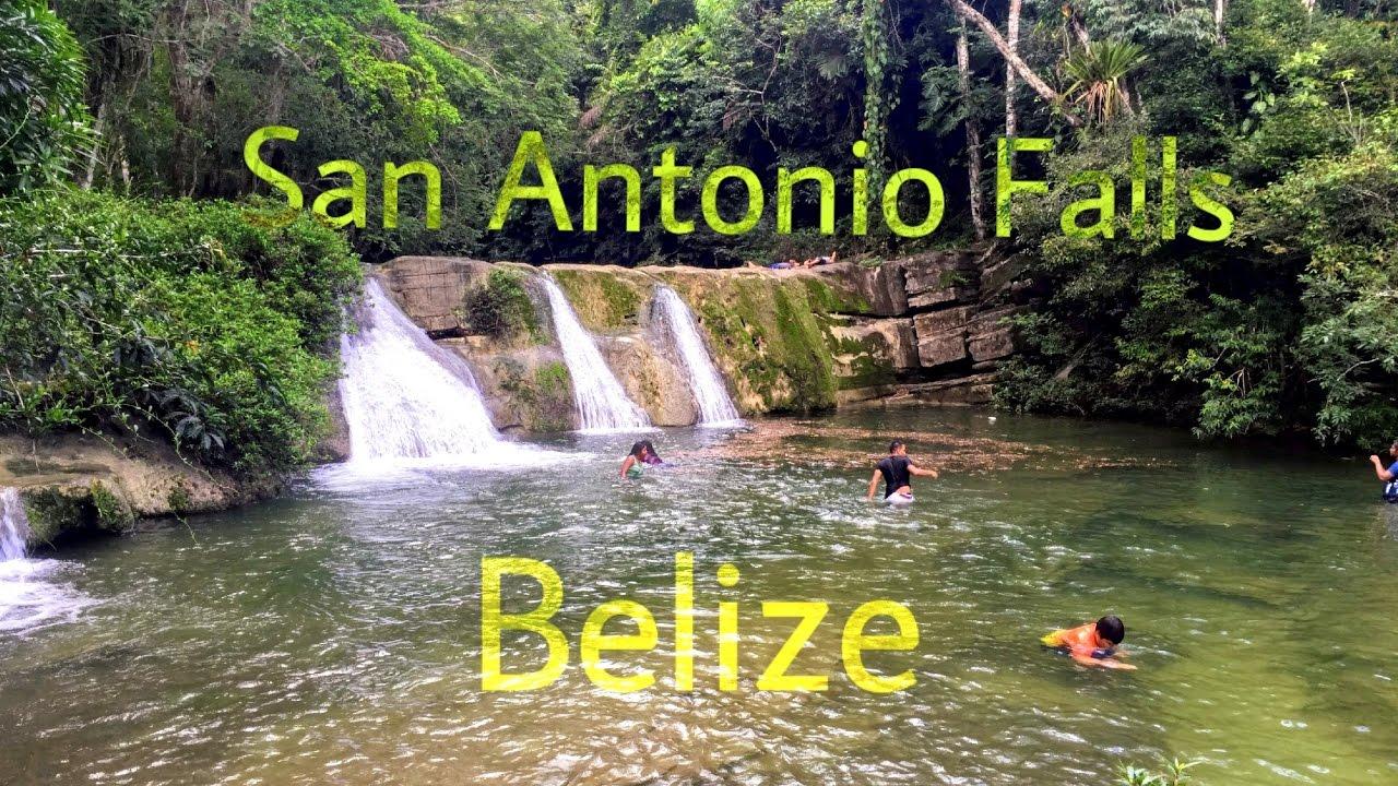San Antonio Falls Belize Youtube