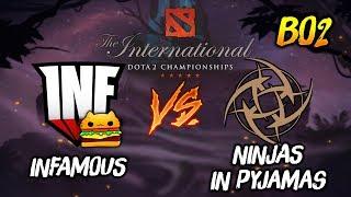 Infamous Gaming vs Ninjas In Pyjamas ► The International Dota 2 2019 ( TI9 Day 4 ) 😎 | dota 2