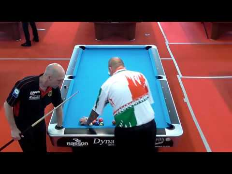 Tom Damm vs Zsolt Cserhati, European Championships Seniors 8-Ball in Tirana/Albanien