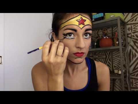 Pop Art Wonder Woman Face Painting