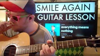 How To Play Smile Again Blackbear // easy guitar tutorial beginner lesson easy chords
