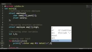 C | Deel 07 | Structuur | struct te maken van de user defined data types