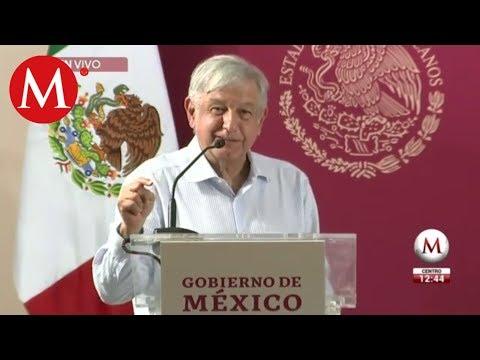"""AMLO presenta programa """"México con agua se transforma"""" en Sinaloa"""