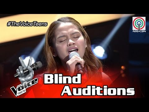 The Voice Teens Philippines Blind Audition: Erica Ladiza- Salamat