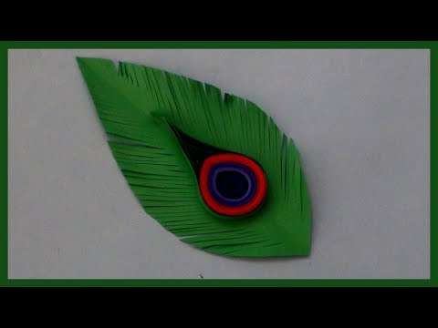 How to Make Peacock Feathers with Paper | Easy and Simple Paper Crafts for Kids and Craft Lovers