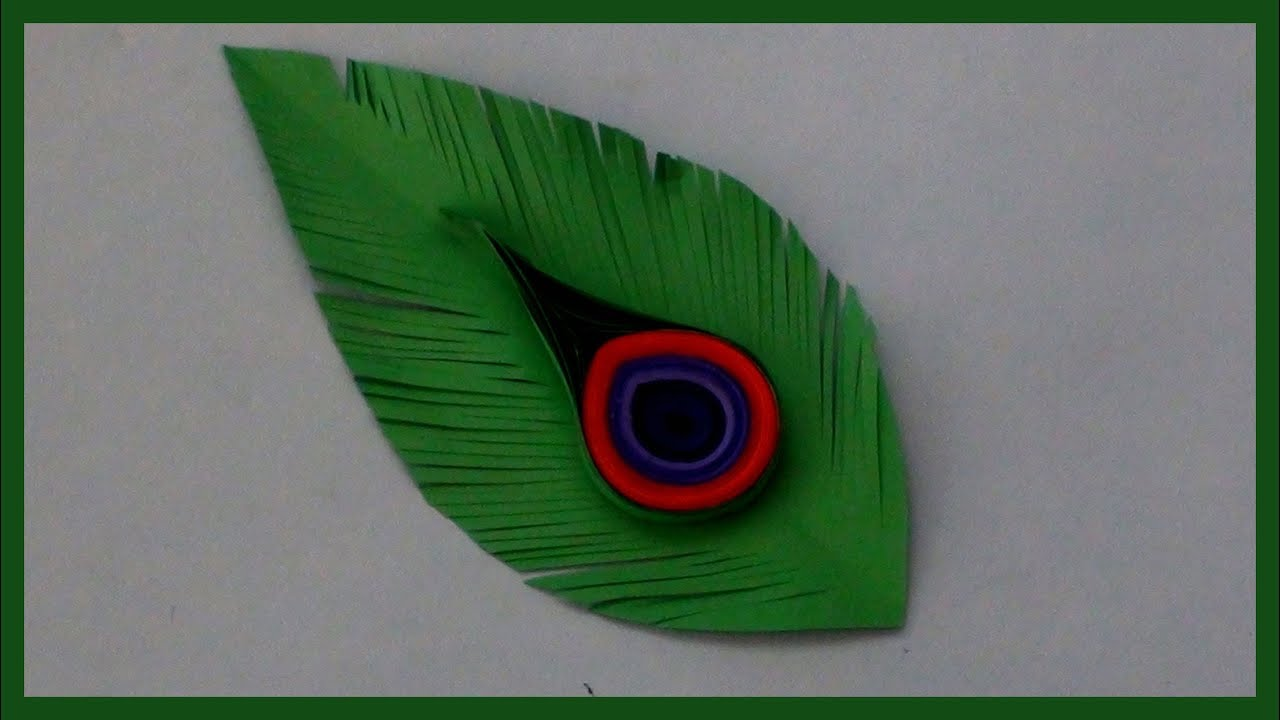 How to make peacock feathers with paper easy and simple for Where can i buy feathers for crafts