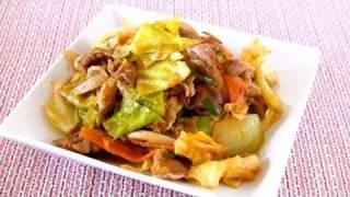 Ketchup Miso Stir-fried Pork And Cabbage (recipe) 豚とキャベツのケチャップ味噌炒め