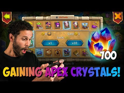 JT's Main Tokens For 700 Apex Crystals New LBF Teams Castle Clash