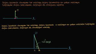 Yarıçapın Teğete Dik Olduğunun İspatı (Matematik) (Geometri) Video