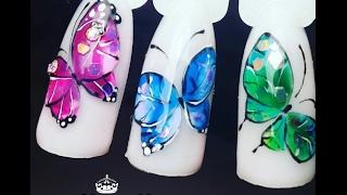 Бабочка на ногтях.