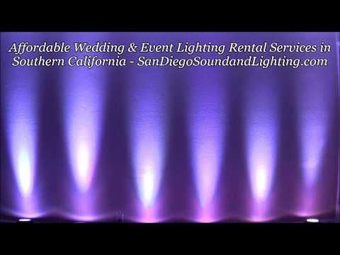 Southern California Event Lighting & PA System Rentals, Wedding Decor, Color Fade Wall Lighting