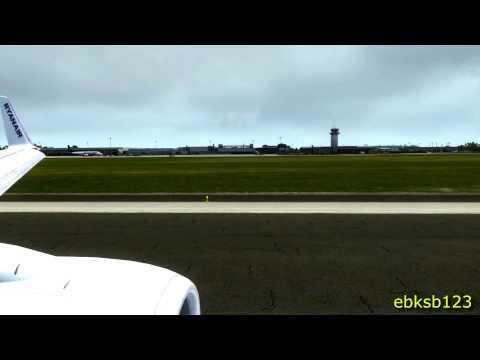FSX HD 1080p - PMDG 737NGX TAKE OFF Frankfurt Hahn! AS REAL AS IT GETS