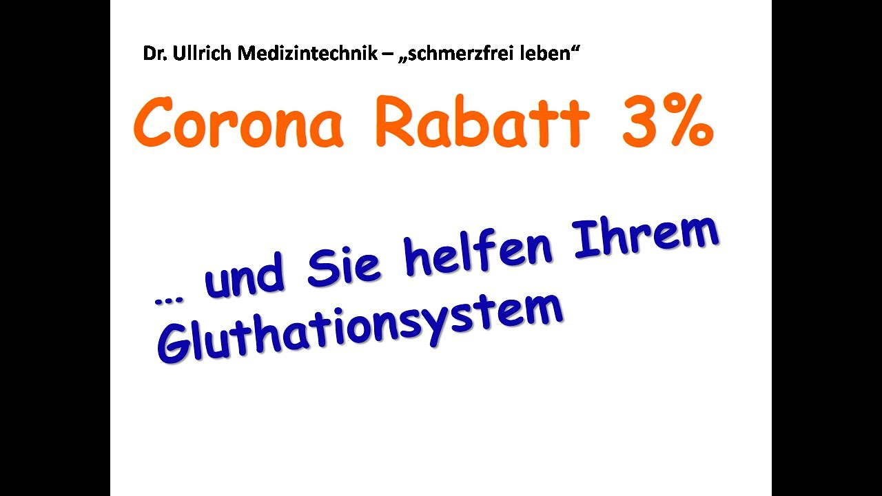 Entgiften über das Gluthationsystem - Corona-Rabatt - YouTube