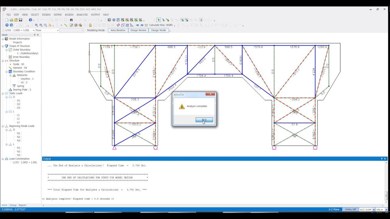 Strut And Tie Model Software Astruttie Truss Model Edit