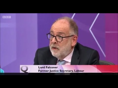 Iraq war criminal Lord Charles Falconer on BBC Question Time 07Jul16 defends Tony Blair