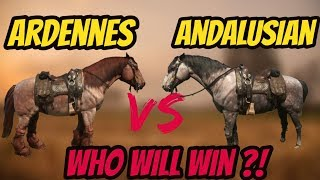RDR 2 Ardennes VS Andalusian !  Who Will Win  Horse Battle !