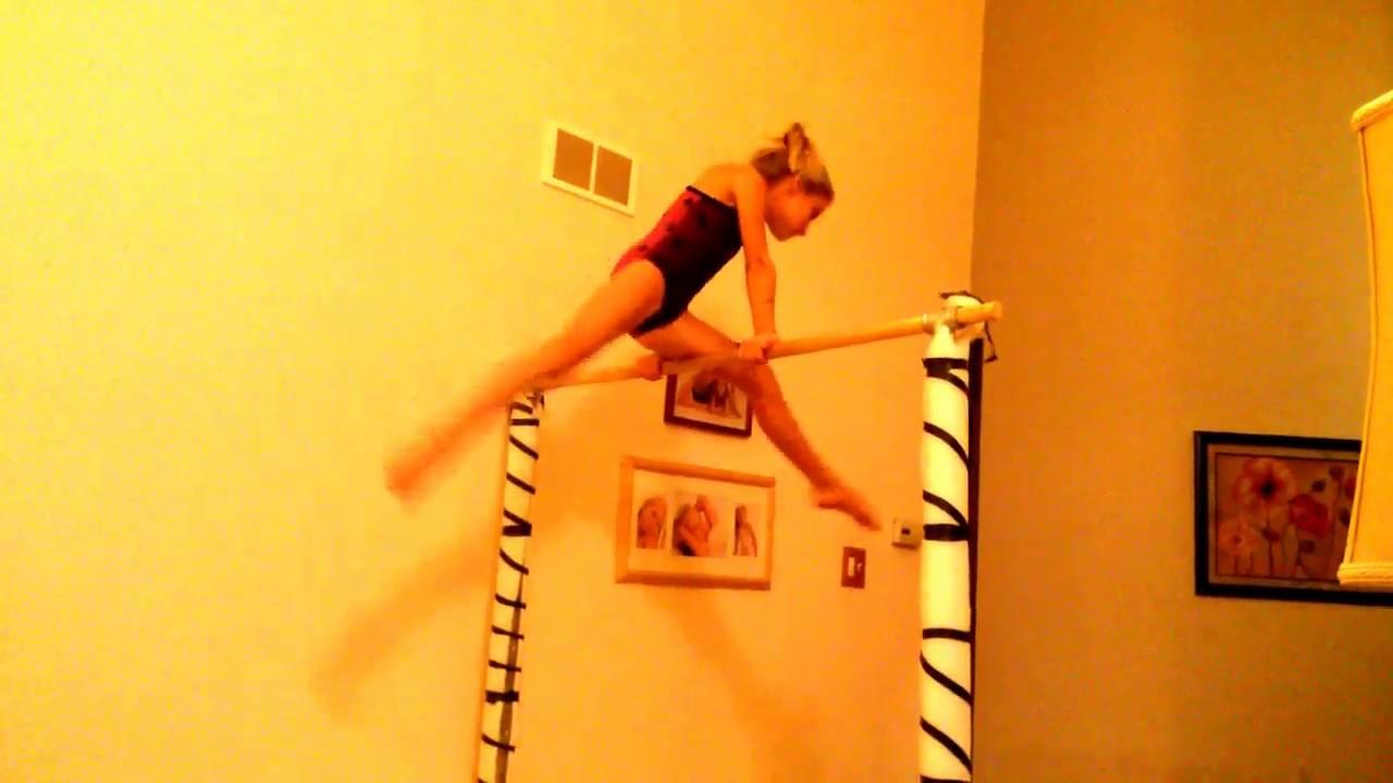 Level 4 Bar Routine On Homemade Gymnastics Bar YouTube