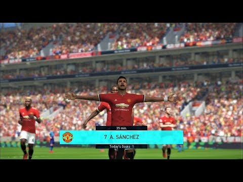 Alexis Sanchez Debut For Manchester United I PES 2018 Full Match Gameplay