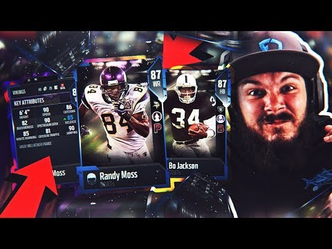 INSANE BO JACKSON AND RANDY MOSS!! MADDEN 18 PACK OPENING